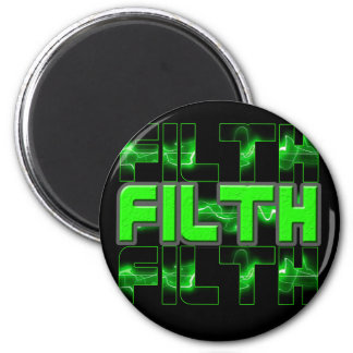 FILTH Music Dubstep Electro Rave Bass DJ FILTH 2 Inch Round Magnet
