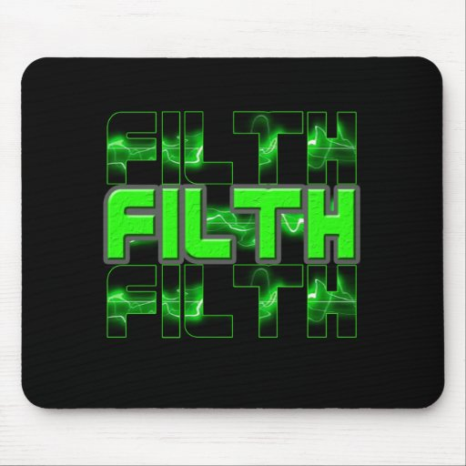 FILTH Music Dubstep Electro Rave Bass DJ FILTH Mouse Pad