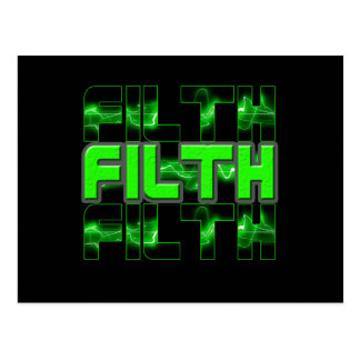 FILTH Music Dubstep Electro Rave Bass DJ FILTH Postcard