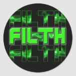 FILTH Music Dubstep Electro Rave Bass DJ FILTH Sticker