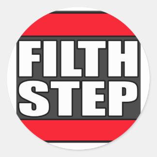 FILTHSTEP Dubstep Filth Filthy Dub Step Round Sticker
