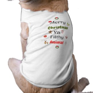 Filthy Animal Dog Shirt