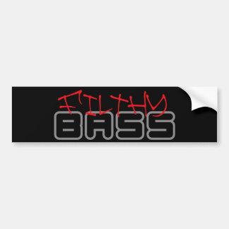 FILTHY BASS Dubstep Dub step Reggae Electro Bumper Sticker