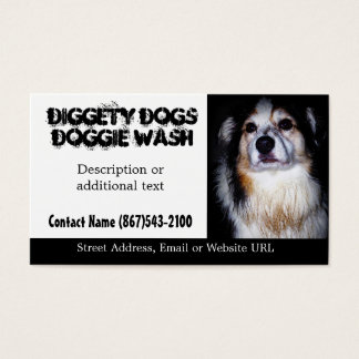 Filthy Dirty Dog Pet Groomer or Washing Business Card