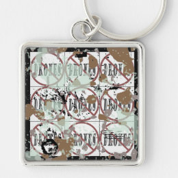 filthy Dirty no drones Dozen peace love you dope Keychain