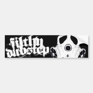 Filthy Dubstep Bumber Sticker 1 (Black) Car Bumper Sticker