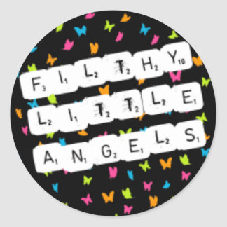 Filthy Little Angels Classic Round Sticker
