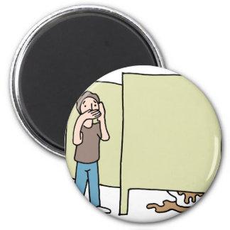 Filthy public restroom 2 inch round magnet