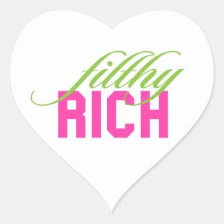 Filthy Rich Heart Sticker