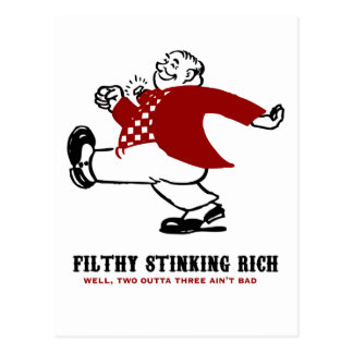 Filthy Stinking Rich Postcard