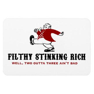 Filthy Stinking Rich Rectangular Photo Magnet