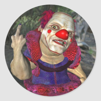 Filthy the Clown Classic Round Sticker