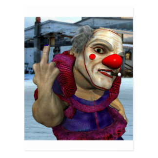 Filthy the Clown Postcard