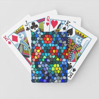 Filtrar-vidrio floral baraja cartas de poker