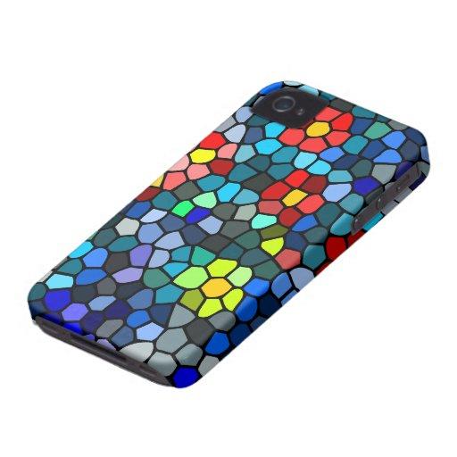 Filtrar-vidrio floral iPhone 4 Case-Mate fundas