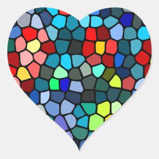 Filtrar-vidrio floral pegatinas de corazon personalizadas