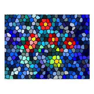 Filtrar-vidrio floral postales
