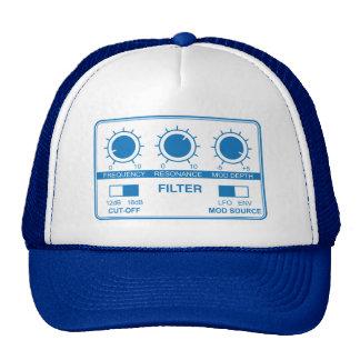 Filtro en el casquillo azul del camionero gorros bordados