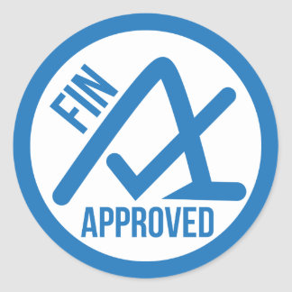 Fin Approved Stickers