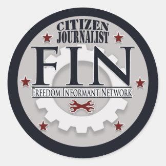 FIN Citizen Journalist Sticker (Sheet  of 6)