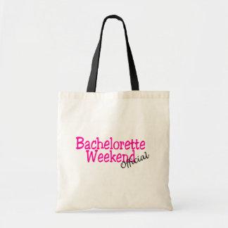 Fin de semana de Bachelorette (funcionario/rosa) Bolsas Lienzo