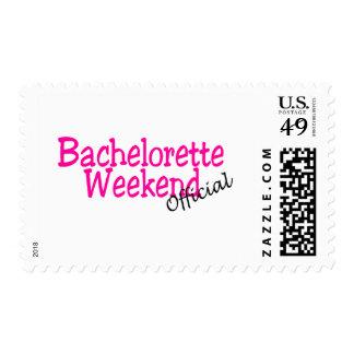 Fin de semana de Bachelorette (funcionario/rosa) Timbres Postales