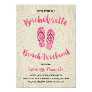 """Fin de semana de la playa de Bachelorette con Invitación 5"""" X 7"""""""