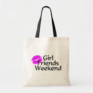 Fin de semana de las amigas bolsa tela barata