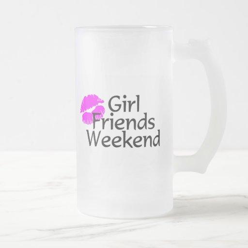 Fin de semana de las amigas taza de café