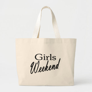 Fin de semana de los chicas bolsa de tela grande