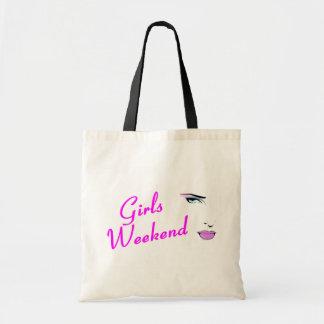 Fin de semana de los chicas (cara) bolsa