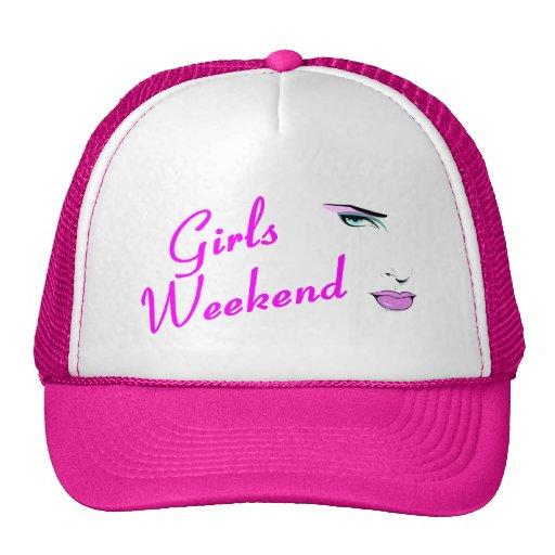 Fin de semana de los chicas (cara) gorras de camionero