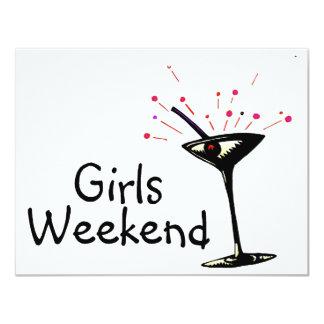 Fin de semana de los chicas invitación personalizada