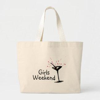 Fin de semana de los chicas (Martini 1) Bolsa De Tela Grande