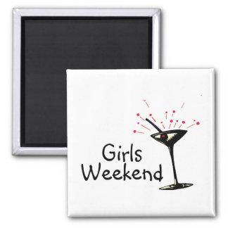 Fin de semana de los chicas (Martini 1) Imán Cuadrado
