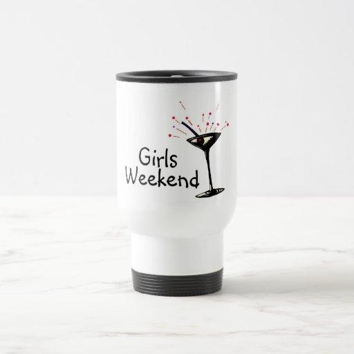 Fin de semana de los chicas (Martini 1) Taza De Viaje