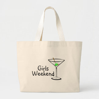 Fin de semana de los chicas (Martini 2) Bolsa De Tela Grande