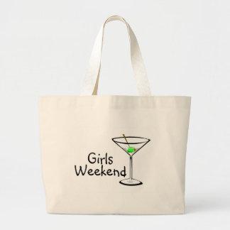 Fin de semana de los chicas (Martini 2) Bolsa Tela Grande