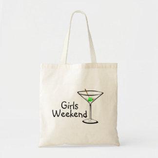 Fin de semana de los chicas Martini 2 Bolsas De Mano