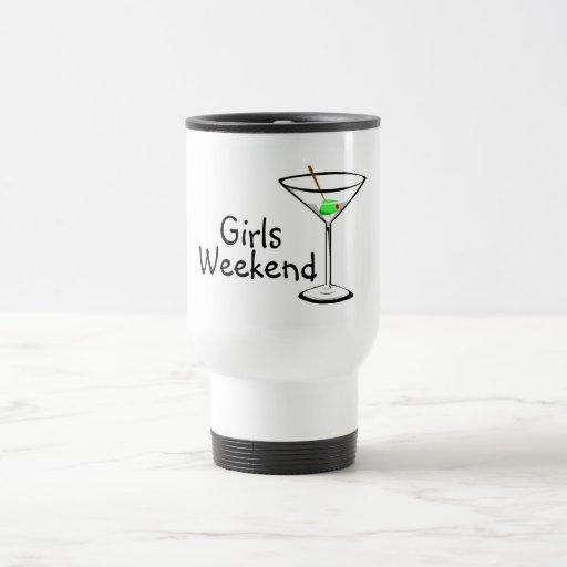 Fin de semana de los chicas (Martini 2) Taza De Viaje De Acero Inoxidable