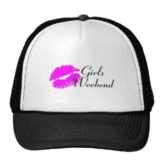 Fin de semana de los chicas (negro del beso) gorras