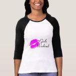 Fin de semana de los chicas (negro del beso) camisetas