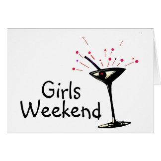 Fin de semana de los chicas tarjetón