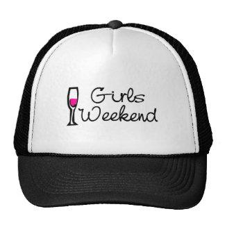 Fin de semana de los chicas (vino) gorras