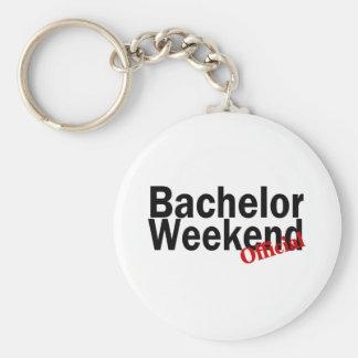 Fin de semana del soltero (funcionario) llavero personalizado