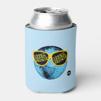 Fin de semana del verano - gráfico del promo enfriador de latas