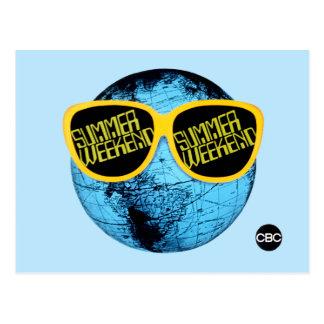 Fin de semana del verano - gráfico del promo tarjeta postal