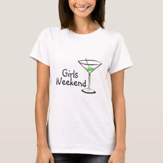Fin de semana Martini de los chicas Playera