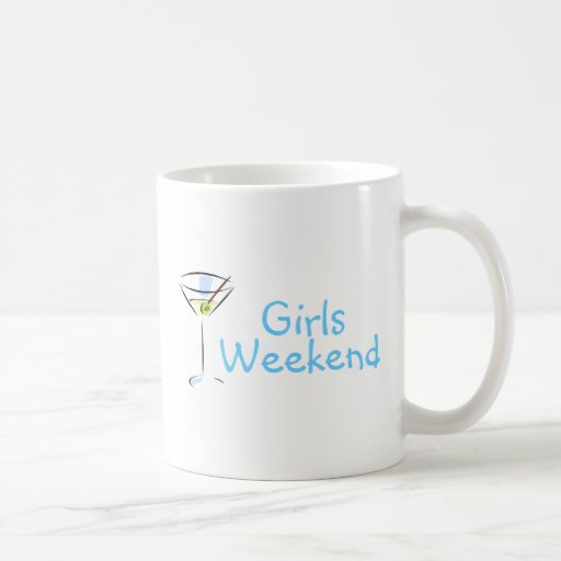 Fin de semana Martini de los chicas Taza Básica Blanca
