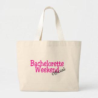 Fin de semana oficial de Bachelorette Bolsas Lienzo